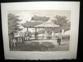 Japan Perry Expedition 1856 Antique Print. Com Perry's Visit shui, Lew Chew